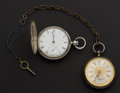 Timepieces:Pocket (post 1900), Two Coin Silver Key Wind Pocket Watches Runners. ... (Total: 2 Items)