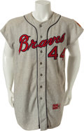 Baseball Collectibles:Uniforms, 1964 Hank Aaron Game Worn Milwaukee Braves Jersey....