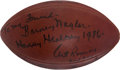 Football Collectibles:Balls, Art Rooney Signed and Inscribed Football....
