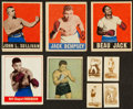 Boxing Cards:General, 1948 - 1951 Topps, Leaf & Berk Ross Boxing Card Collection (9)....