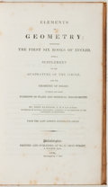 Books:Science & Technology, [Euclid]. John Playfair. Elements of Geometry... with a Supplement on the Quadrature of the Circle, and the Geomet...