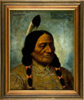 Western Expansion, Sitting Bull: A Marvelous Oil Portrait, Painted from Life by H. H. Cross in 1882, and Actually Signed by the Great Chief. ...
