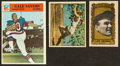 Baseball Cards:Lots, 1950's-60's Sports Legends Trading Card Trio (3) With Gehrig, Owens and Sayers. ...