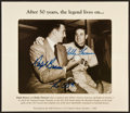 """Autographs:Photos, """"After 50 years, the legend lives on..."""" Photograph Signed By RalphBranca and Bobby Thomson. ..."""
