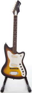 Musical Instruments:Electric Guitars, 1960's Harmony Bobkat Sunburst Solid Body Electric Guitar....