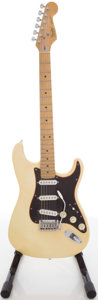 Musical Instruments:Electric Guitars, Circa 1989 Fender Stratocaster USA Cream Solid Body ElectricGuitar, #E953854....