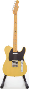 Musical Instruments:Electric Guitars, Circa late 1980s Fender Telecaster Butterscotch Solid Body ElectricGuitar, #A051338....