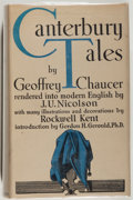 Books:Literature Pre-1900, [Rockwell Kent, illustrator]. Geoffrey Chaucer. CanterburyTales. New York: Covici Friede, [1934]. First trade editi...