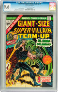 Bronze Age (1970-1979):Superhero, Giant-Size Super-Villain Team-Up #1 (Marvel, 1975) CGC NM+ 9.6 Off-white to white pages....