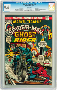 Marvel Team-Up #15 Spider-Man and Ghost Rider (Marvel, 1973) CGC NM+ 9.6 White pages