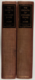 Books:Business & Economics, F. Cyril James. The Growth of Chicago Banks. New York: Harper, 1938. First edition. With a presentation slip fro... (Total: 2 Items)
