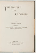 Books:Literature Pre-1900, Arthur Conan Doyle. The Mystery of Cloomber. New York:Fenno, [1895]. First American edition. Octavo. 250 pages. Ori...