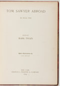 Books:Literature Pre-1900, Mark Twain. Tom Sawyer Abroad. New York: Webster, 1894.First edition. Octavo. 219 pages. Illustrated. Original clot...