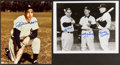Baseball Collectibles:Photos, New York Yankees Legends Signed Photographs Lot of 2....