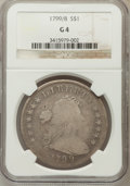 Early Dollars: , 1799/8 $1 15 Stars Reverse Good 4 NGC. NGC Census: (2/232). PCGSPopulation (0/216). Numismedia Wsl. Price for problem fre...