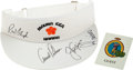 Golf Collectibles:Autographs, Floyd, Palmer, Nicklaus and Trevino Multi Signed Visor....