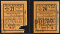 Football Collectibles:Tickets, 1932-36 College Football Ticket Stubs Lot of 9 - With Lombardi's Fordham Seasons....