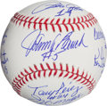Baseball Collectibles:Balls, Cincinnati Reds Big Red Machine Multi Signed Baseball (8Signatures)....