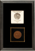Paintings, A FRAMED COMMEMORATIVE 1933 CHICAGO WORLD'S FAIR MEDALLION . Maker unknown, Chicago, Illinois, 1933. 1-...