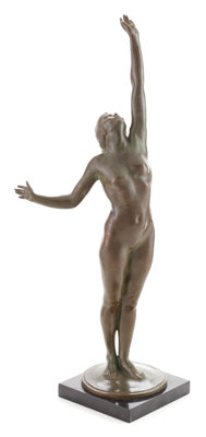 A HARRIET WHITNEY FRISHMUTH (AMERICAN, 1880-1980) PATINATED BRONZE FIGURE: STAR