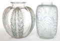 Art Glass:Lalique, A RENÉ LALIQUE GLASS CHARDONS AND COQUILLES VASE .René Lalique, Wingen-sur-Moder, France, circa 192... (Total: 2Items)