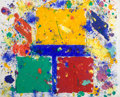 Paintings, SAM FRANCIS (American, 1923-1994). Untitled (SFM 81-009), 1981. Monotype (Oil paint, powdered pigment and ink on handmad...
