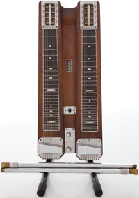 Circa Early 1950's Fender Double 8 Professional Walnut Lap Steel Guitar, #3449