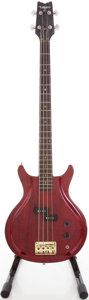 Musical Instruments:Bass Guitars, Circa Early 1980's Lotus Wine Red Electric Bass Guitar, #20982....