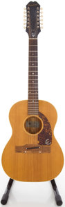 Musical Instruments:Acoustic Guitars, Circa 1965 Epiphone FT85 Serenader Natural 12 String Acoustic Guitar, #437812....