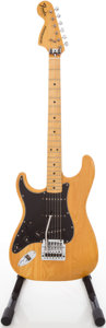 Musical Instruments:Electric Guitars, 1977 Fender Stratocaster Left-Handed Natural Solid Body Electric Guitar, #S767016....