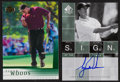 "Golf Collectibles:Autographs, 2001 Upper Deck and 2002 SP Authentic ""Sign of The Times"" TigerWoods Pair (2). ..."