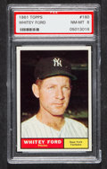 Baseball Cards:Singles (1960-1969), 1961 Topps Whitey Ford #160 PSA NM-MT 8....
