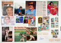 Baseball Collectibles:Others, Baseball Stars Signed Photographs, Cards and Clippings Lot of30....