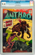 Silver Age (1956-1969):Adventure, Anthro #1 (DC, 1968) CGC NM 9.4 Off-white to white pages....