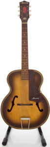 Musical Instruments:Acoustic Guitars, Circa 1960's Harmony Sunburst Archtop Acoustic Guitar....