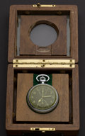 Timepieces:Pocket (post 1900), Hamilton Model 23 Chronograph With Aircraft Navigational Box. ...
