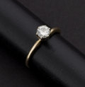 Estate Jewelry:Rings, Diamond & Gold Solitaire Ring. ...