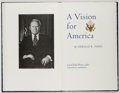 Books:Americana & American History, Gerald R. Ford. SIGNED/LIMITED. A Vision for America.Northridge: Lord John Press, 1980. First edition, limited to...