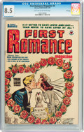 Golden Age (1938-1955):Romance, First Romance #4 File Copy (Harvey, 1950) CGC VF+ 8.5 Light tan tooff-white pages....