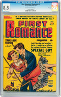 Golden Age (1938-1955):Romance, First Romance #5 File Copy (Harvey, 1950) CGC VF+ 8.5 Off-white towhite pages....