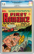 Golden Age (1938-1955):Romance, First Romance Magazine #7 (Harvey, 1951) CGC FN/VF 7.0 Light tan tooff-white pages....