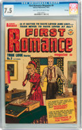 Golden Age (1938-1955):Romance, First Romance Magazine #9 File Copy (Harvey, 1951) CGC VF- 7.5Light tan to off-white pages....