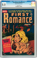 Golden Age (1938-1955):Romance, First Romance Magazine #10 File Copy (Harvey, 1951) CGC VF 8.0Light tan to off-white pages....