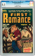 Golden Age (1938-1955):Romance, First Romance Magazine #12 File Copy (Harvey, 1952) CGC VF+ 8.5Light tan to off-white pages....