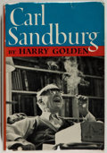 Books:Biography & Memoir, Harry Golden. Carl Sandburg. Cleveland: World Publishing,[1961]. First edition, first printing. Octavo. 287 pages. ...
