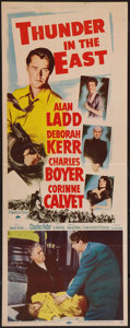 "Movie Posters:Adventure, Thunder in the East (Paramount, 1953). Insert (14"" X 36"").Adventure.. ..."