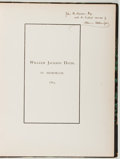 Books:Books about Books, William Jackson Davis [subject]. Catalogue of the Entire Private Library of the Late Mr. William J. Davis. New York:...