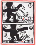 Prints:Contemporary, KEITH HARING (American, 1958-1990). Untitled 3 (from Free SouthAfrica), 1985. Color lithograph. 39-1/2 x 32 inches (100...