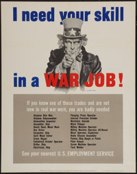 "World War II Propaganda (U.S. Government Printing Office, 1943). Poster (22"" X 28""). OWI Poster No. 25. ""..."