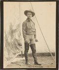 """Western Expansion:Cowboy, Johnny Baker: A Rare Large 11"""" x 14"""" Original Photo in Wild WestPerforming Attire. ..."""